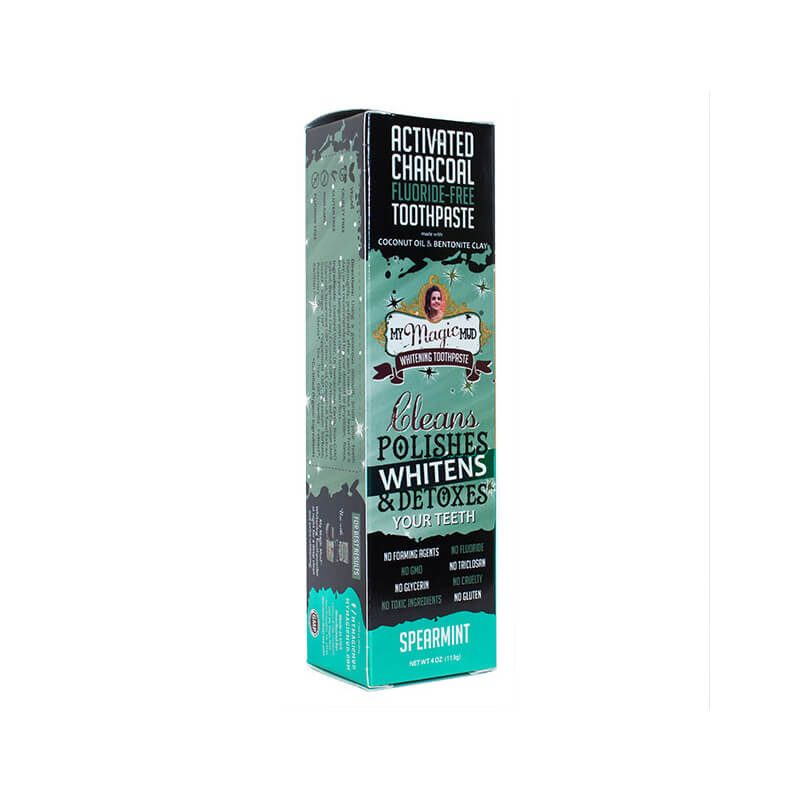 spearmint Charcoal Whitening Toothpaste