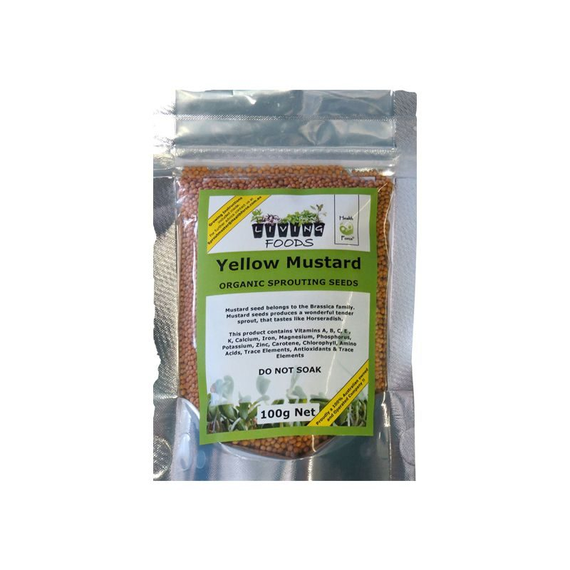 yellow mustard seeds 100g